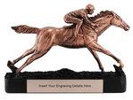Bronze Horse Racing Trophy