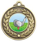 Antique Wreath Medal - Golf