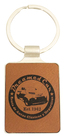 Leatherette Keychain - Rawhide with Chrome