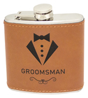 Flask with Rawhide Leatherette