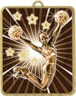 Gold Lynx Medal - Cheerleading